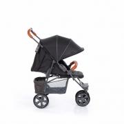 Treviso 3 woven black com couro até 22 kg - Abc Design