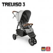 Treviso 3 woven grey com couro até 22 kg - Abc Design
