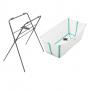 Banheira com suporte flexível branca e verde - Stokke