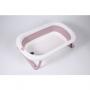 Banheira de plástico flexível pequena rosa - Baby Pil