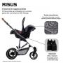 Bebê conforto Risus Graphite Gray - Abc Design
