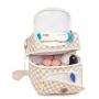 Bolsa de maternidade e Frasqueira cooler escocesa caramelo - Lequiqui