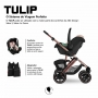 Carrinho com Bebê conforto Tulip Salsa 4 Rose Gold Diamond até 22 kg - Abc Design