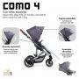 Carrinho de bebê COMO 4 Asphalt Diamond - Abc Design