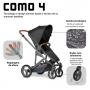 Carrinho de bebê COMO 4 Black até 22 kg - Abc Design