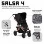 Carrinho de bebê Salsa 4 Rose Gold Diamond até 22 kg - Abc Design