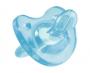 Chupeta de silicone soft Azul Chicco - (0-6 Meses)