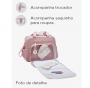 Kit Bolsa e mochila maternidade rosa coleção prática - Pirulitando Baby