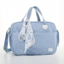 Kit bolsa maternidade com mala e mochila Azul Bunny - Just Baby