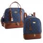 Kit de bolsa e mochila maternidade jeans Santorini - Just Baby