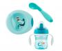 Kit de prato com copo para bebês Azul - Chicco (6 meses +)