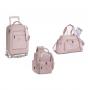 Kit mala de maternidade com rodinha, bolsa e mochila Urban flora - Masterbag Baby