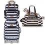 Kit mala de rodinha com bolsa de maternidade e mochila Brooklin - Masterbag Baby