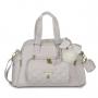 Kit mala maternidade com rodinha, bolsa e mochila Lu Ballet Rosa - Masterbag Baby