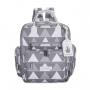 Kit mala maternidade com rodinha, bolsa e mochila Urban Nórdica Cinza - Masterbag Baby