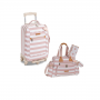 Kit mala maternidade com rodinha e bolsa Brooklin Rosa - Masterbag Baby