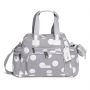 Kit mala maternidade com rodinha e bolsa everyday Bubble Cinza - Masterbag Baby
