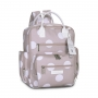 Kit mala maternidade com rodinha e mochila Urban Bubble Rosa - Masterbag Baby