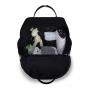 Kit mala maternidade com rodinha e mochila Urban Nylon Glow preta - Masterbag Baby