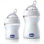 Kit Mamadeira transparente Anti-refluxo Step Up 125 e 250 ml - Chicco