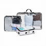 Organizador de mala de bebê Brooklin preta e branca - Masterbag Baby