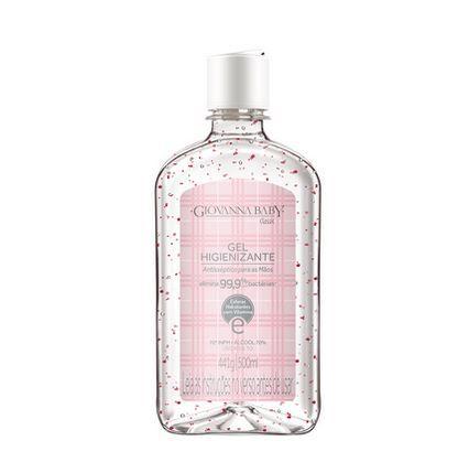 Álcool gel 70% higienizante para as mãos 500ml rosa - Giovanna Baby