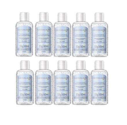 Álcool gel 70% higienizante para as mãos 60ml azul Kit com 12 - Giovanna Baby