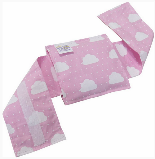 Almofada com Cinta Térmica de Ervas Naturais para Alívio das Cólicas e Gases Nuvem Rosa - Bebê sem Cólica