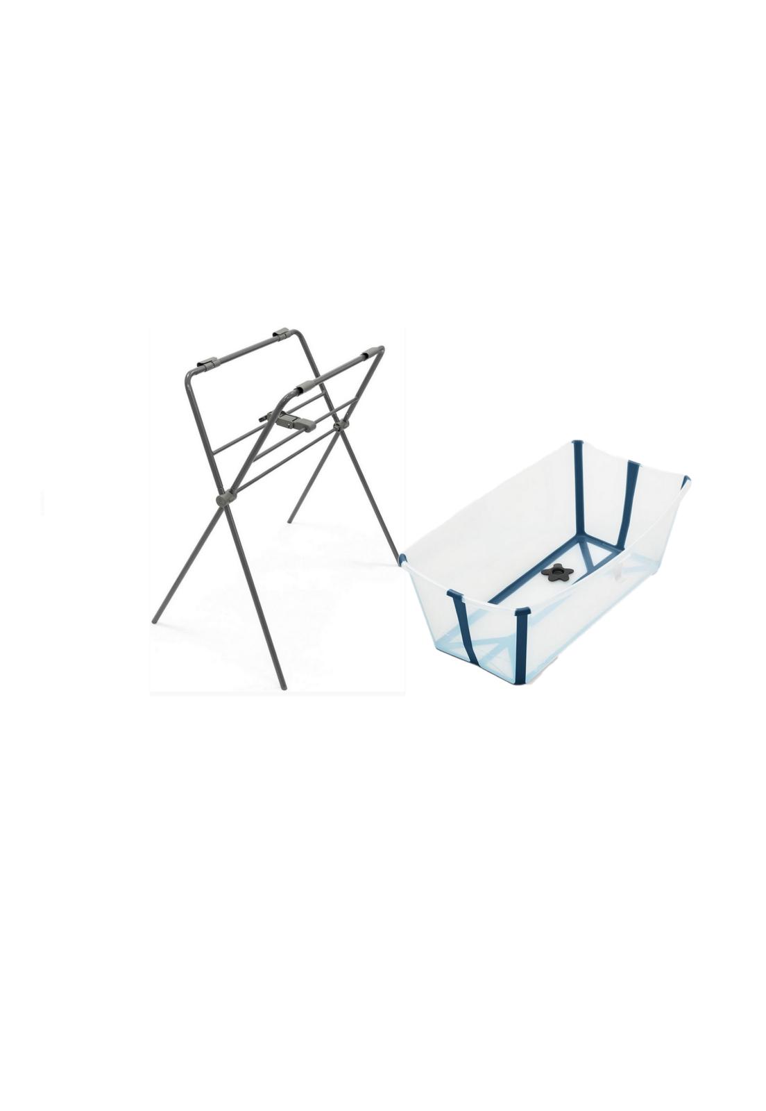 Banheira com suporte flexível Transparente azul- Stokke