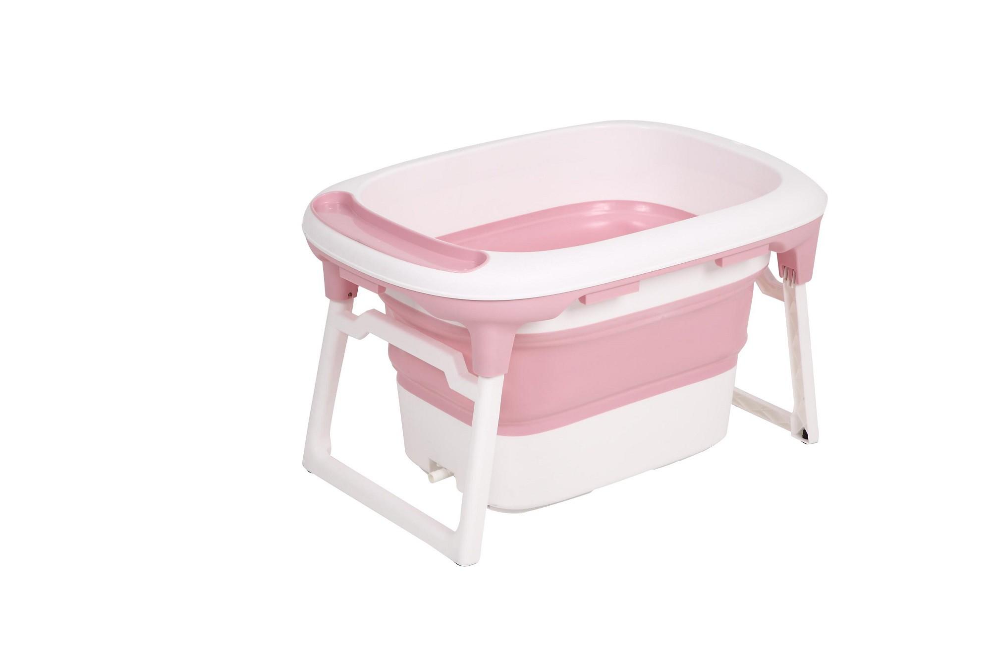 Banheira de plástico flexível média rosa - Baby Pil