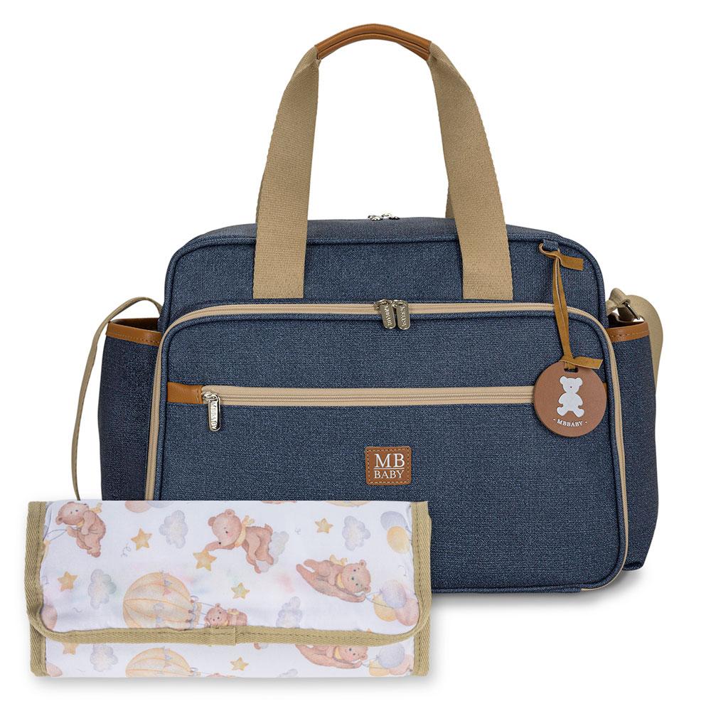 Bolsa maternidade de passeio Azul - Coleção Jeans - MB Baby