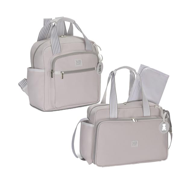 Bolsa maternidade de passeio e mochila Rosa - Kit Coleção Classic - MB Baby
