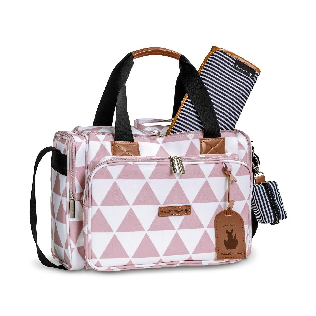 Bolsa maternidade térmica Anne - Coleção Manhattan Rosa - Masterbag Baby