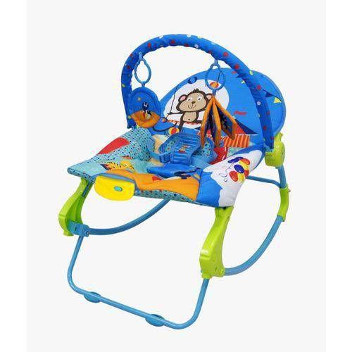 Cadeira de descanso vibratória musical New Rocker Azul color Baby até 18kgs - Colorbaby