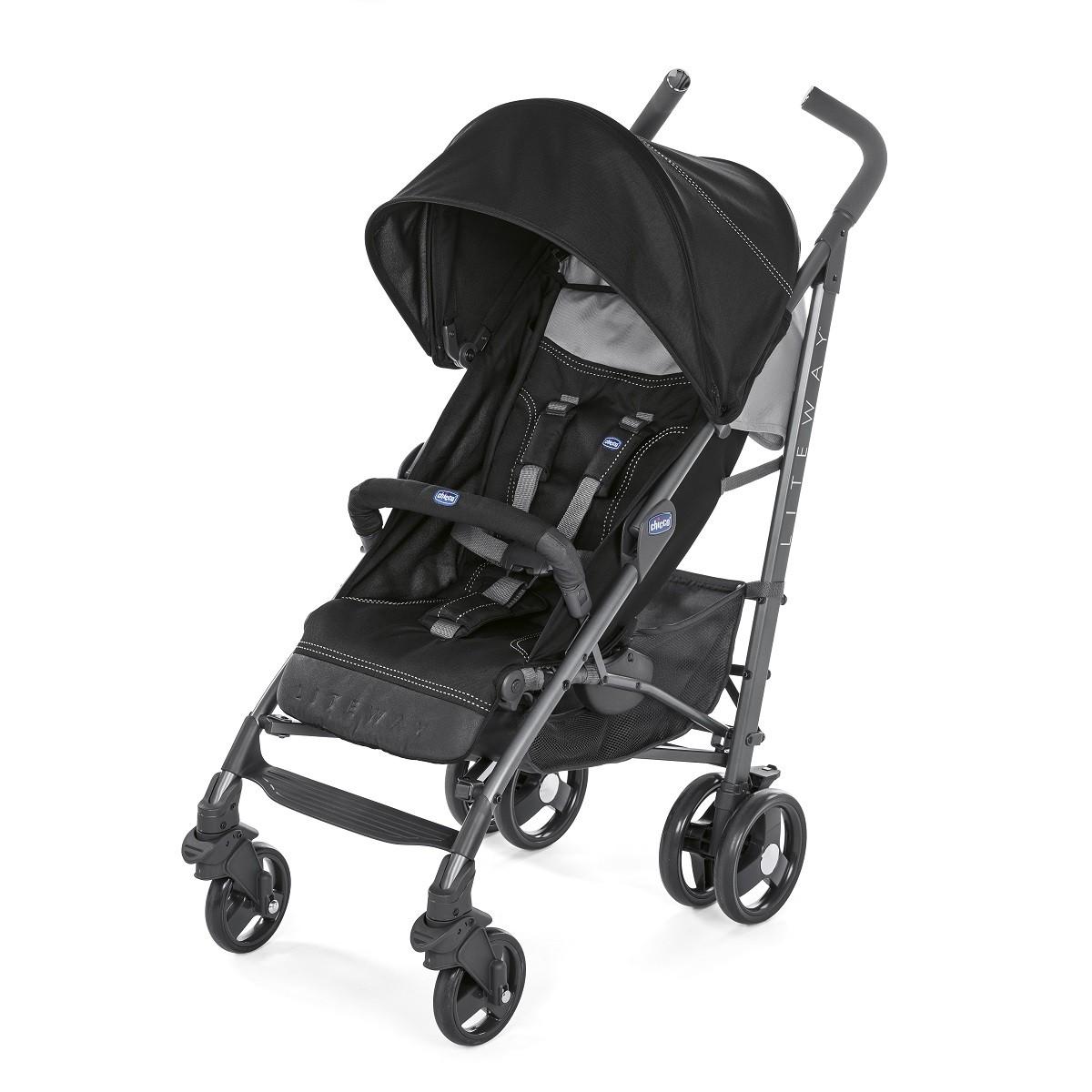 Carrinho de bebê Lite Way Jet Black - Chicco