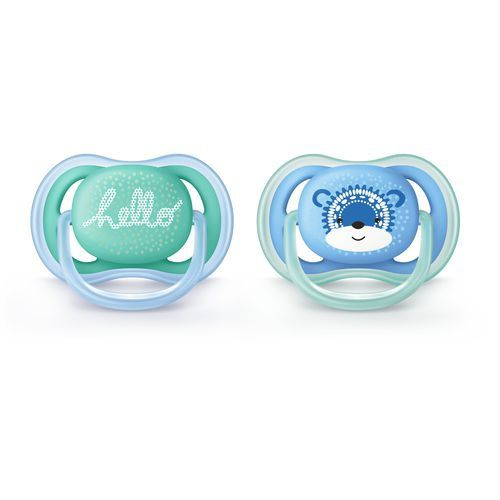 Chupeta Ultra Air Dupla Decorada 06 a 18 Meses Menino - Philips Avent