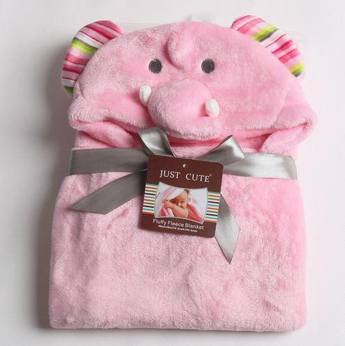 Cobertor de bebê bichinhos Elefante Rosa