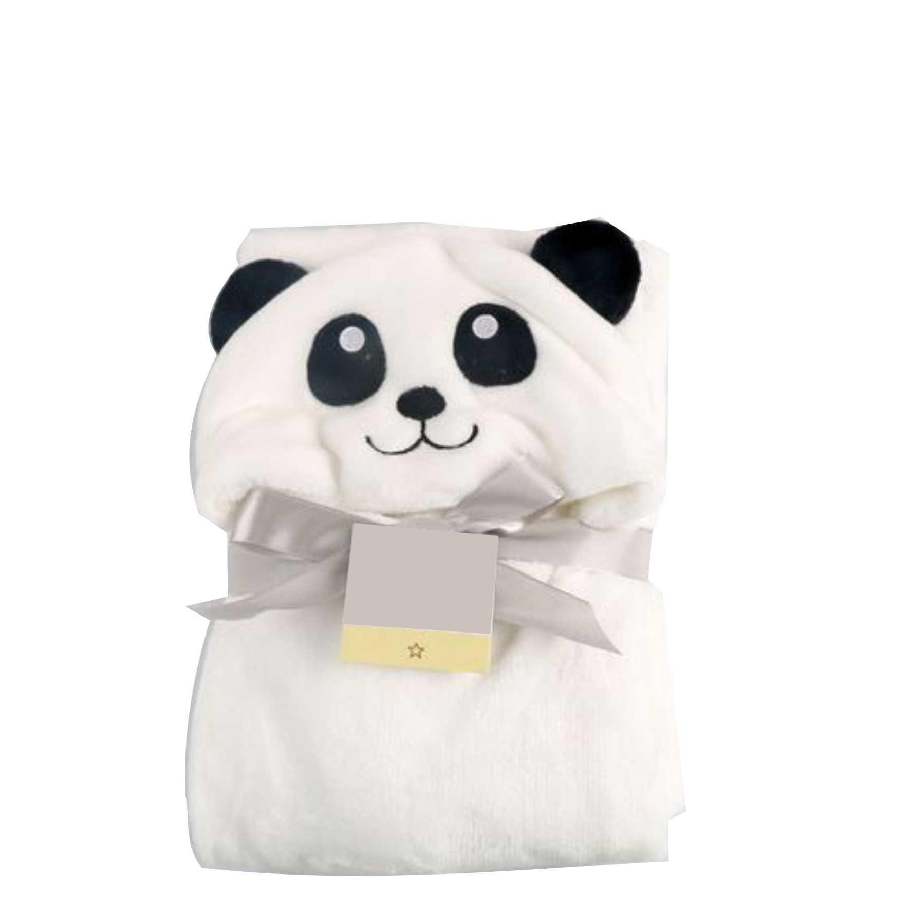 Cobertor de bebê bichinhos Panda Branco