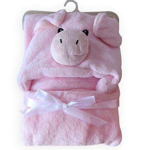 Cobertor de bebê bichinhos Porco Rosa