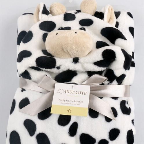 Cobertor de bebê bichinhos Vaca