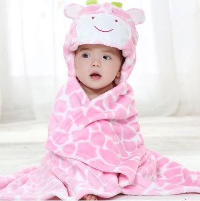 Cobertor de bebê bichinhos Vaca Rosa