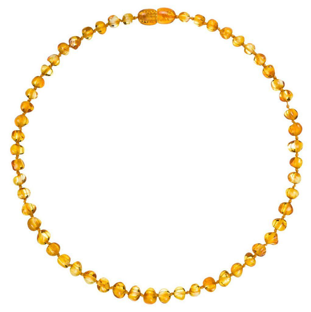 Colar Âmbar Baroque Honey 32 cm - Para dentição