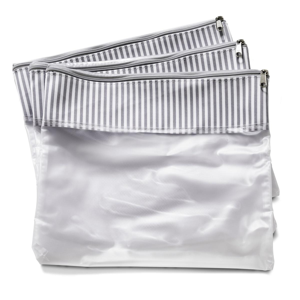 Conjunto com 3 saquinhos de mala Nórdica Cinza - Masterbag Baby