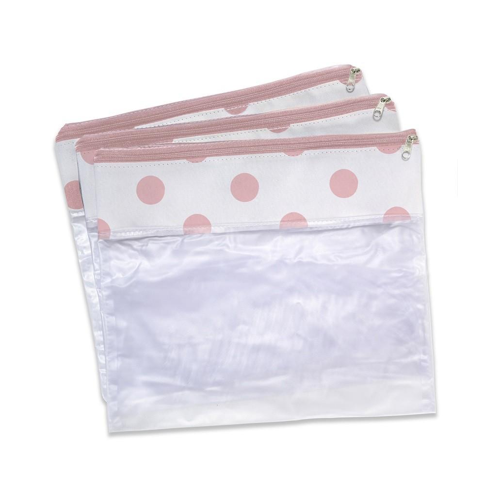 Conjunto com 3 saquinhos para bolsa maternidade Brooklin Rosa - Masterbag Baby