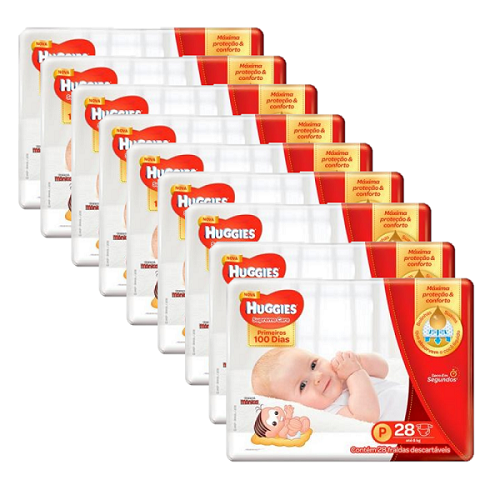Fralda Huggies Supreme Care Jumbo Kit com 252 un Tam. P