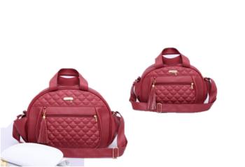 Kit bolsa e frasqueira de maternidade colours vermelha - By Children