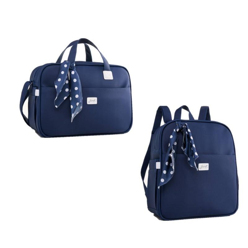 Kit Bolsa e mochila maternidade Candy Azul - Just Baby