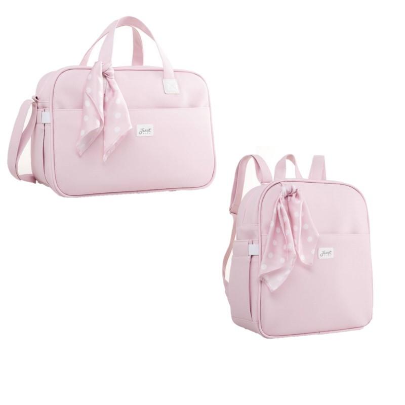 Kit Bolsa e mochila maternidade Candy Rosa - Just Baby