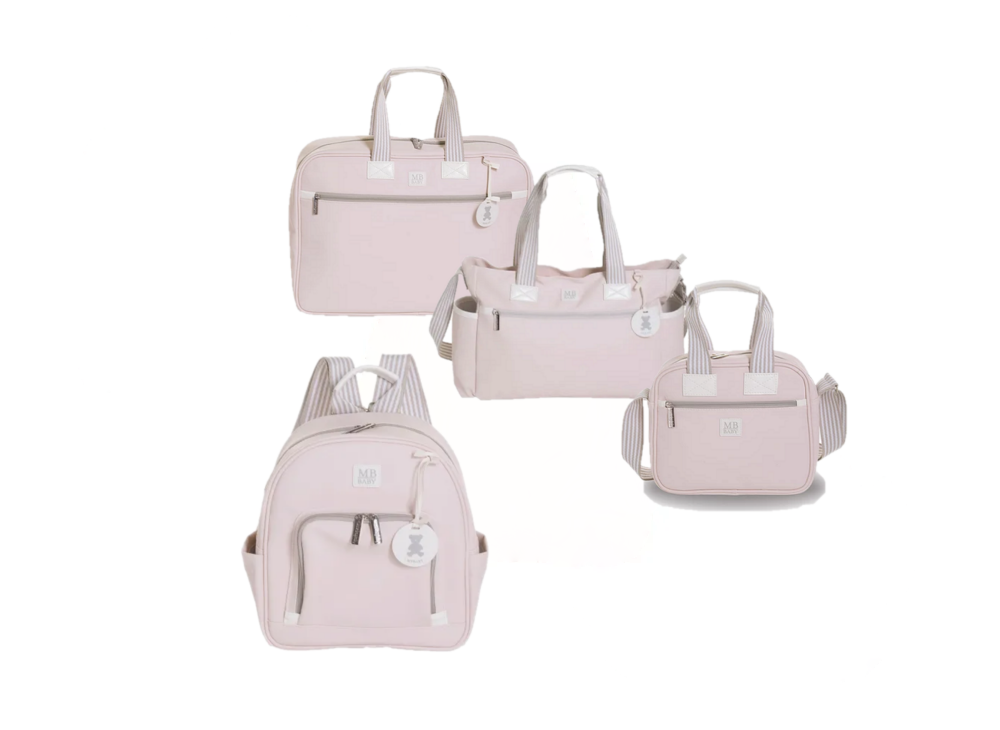 Kit bolsa maternidade classic rosa - MB Baby