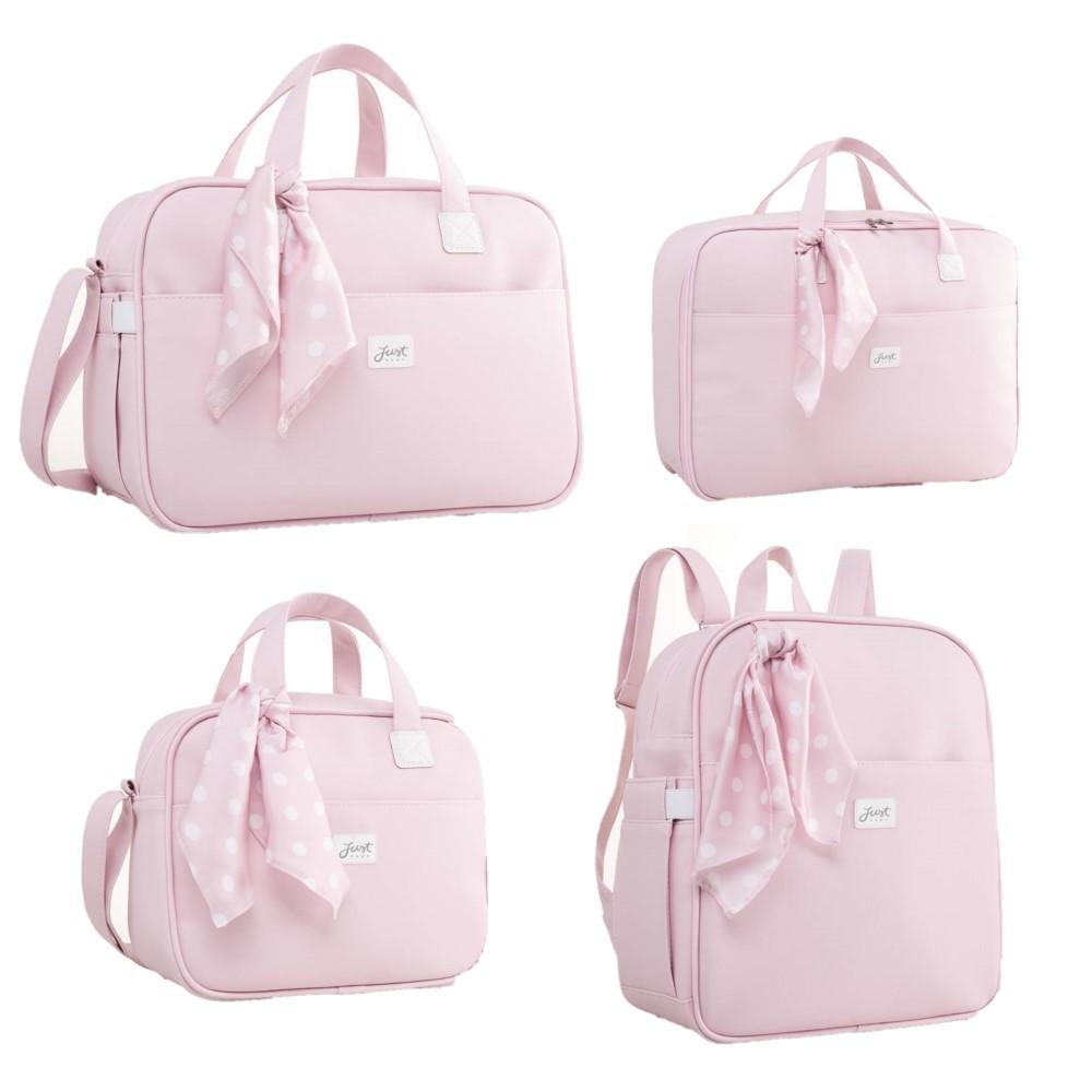 Kit Bolsa maternidade coleção Candy Rosa - Just Baby